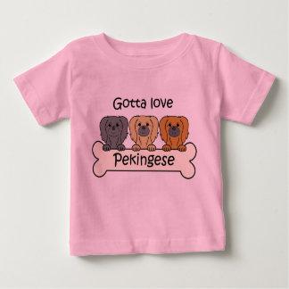 Drei Pekingese Baby T-shirt