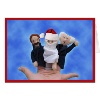Drei Philosophen-Weihnachtskarten Grußkarte