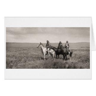 Drei Piegan Blackfeet-Leiter - Vintag Karte