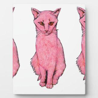 Drei rosa Kätzchen Fotoplatte
