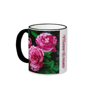 Drei Rosen-Kaffee-Tasse
