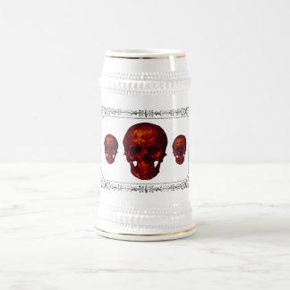 Drei rote Schädel Bierglas