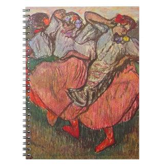 Drei russische Tänzer durch Edgar Degas Spiral Notizblock