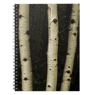 Drei Säulen des Waldes Notizblock