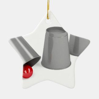 Drei Schalen und ein Ball Keramik Ornament