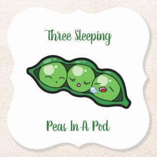 Drei Schlafenerbsen in einer Hülse Untersetzer