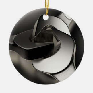 Drei Schlüssel Rundes Keramik Ornament