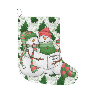 Drei SchneemannCarolers Großer Weihnachtsstrumpf