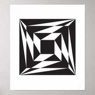 Drei Schritte, zum geometrisches zu zentrieren Poster
