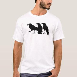 Drei schwarzes Krähen-T-Shirt T-Shirt