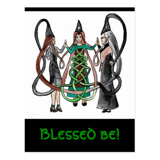 Drei Schwestern - keltische Hexen Postkarte