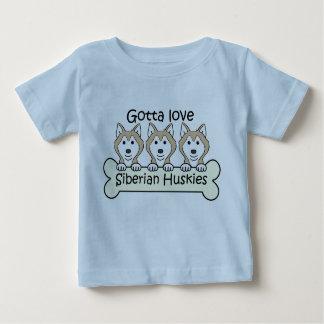 Drei sibirischer Huskies Baby T-shirt