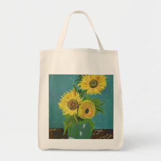Drei Sonnenblumen in einem Vase, Van Gogh Tragetasche