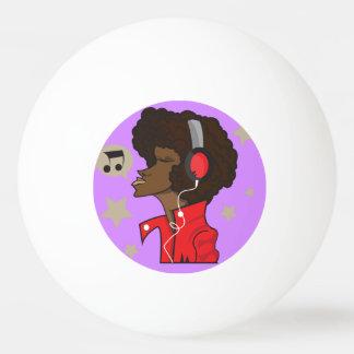 Drei Stern-Klingeln Pong Ball mit Musiker Tischtennis Ball