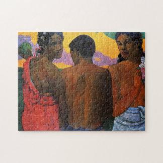 """""""Drei Tahitians"""" - Paul Gauguin Puzzle"""