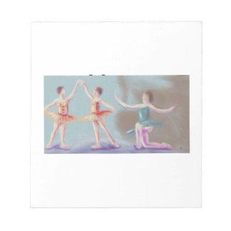 Drei Tänzer-Kunst Notizblock