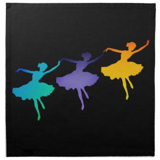 Drei Tänzer Serviette