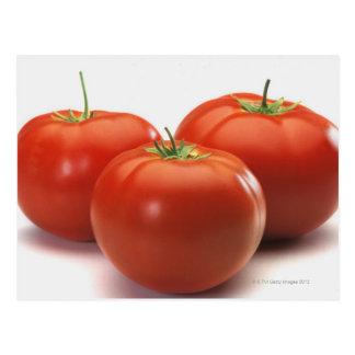 Drei Tomaten auf Zähler, Nahaufnahme Postkarten