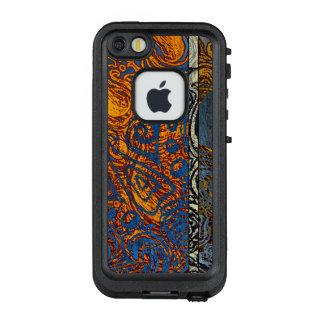 Drei Ton-blauer Jean-Strudel LifeProof FRÄ' iPhone SE/5/5s Hülle