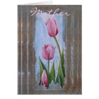 Drei Tulpe-Mutter-Tageskarte w/envelopes Karte