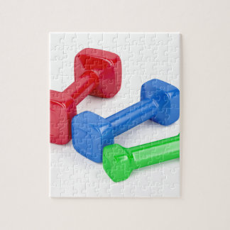 Drei verschiedene Dumbbells Puzzle