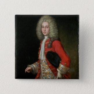 Drei-Viertel Längen-Porträt eines Herrn Weari Quadratischer Button 5,1 Cm