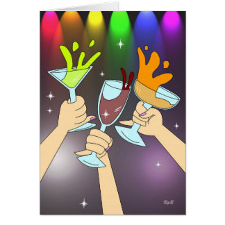 Drei von Schalen: Party-Zeit Karte