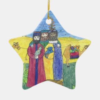 Drei weise Männer Keramik Stern-Ornament