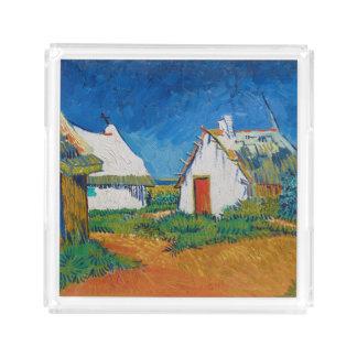 Drei weiße Hütten in Saintes-Maries durch Vincent Acryl Tablett