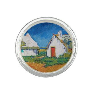 Drei weiße Hütten in Saintes-Maries durch Vincent Ring