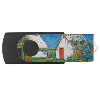 Drei weiße Hütten in Saintes-Maries durch Vincent USB Stick