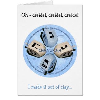 Dreidel Spiel - glückliches Hannukah Karte