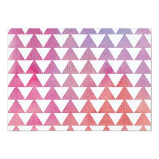 Dreieck-Aquarell-Hintergrund Individuelle Einladungskarte