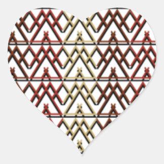 Dreieck-Azteke-Muster Herz-Aufkleber