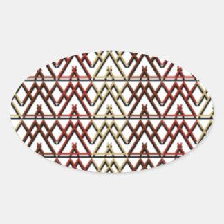 Dreieck-Azteke-Muster Ovaler Aufkleber