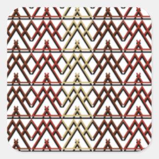 Dreieck-Azteke-Muster Quadratischer Aufkleber