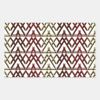 Dreieck-Azteke-Muster Rechteckiger Aufkleber