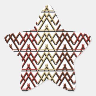 Dreieck-Azteke-Muster Stern-Aufkleber