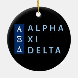 Dreieck des Alpha-XI gestapelt Keramik Ornament
