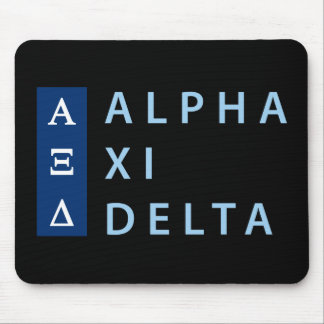 Dreieck des Alpha-XI gestapelt Mousepad