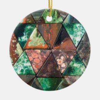 Dreieck-Felsen Keramik Ornament