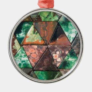 Dreieck-Felsen Silbernes Ornament