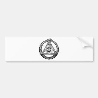 Dreieck-Freimaurer-Schlange Autoaufkleber