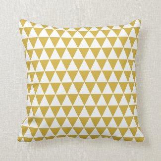 Dreieck-geometrisches Muster-Senf-Gelb Kissen