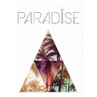 Dreieck-Hipster-Palmenparadies Postkarte