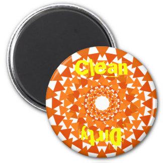 Dreieck-Kreis-Spülmaschinen-sauberer schmutziger M Magnets