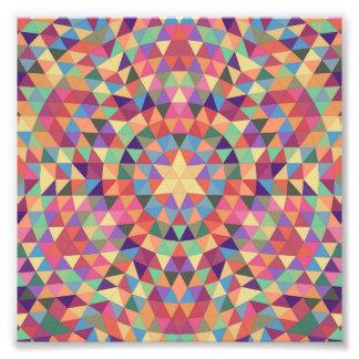 Dreieck-Mandala 1 Fotodruck