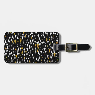 Dreieck-moderne Kunst - schwarzes Gold Gepäckanhänger