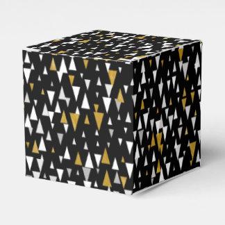 Dreieck-moderne Kunst - schwarzes Gold Geschenkschachtel