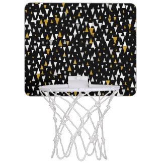 Dreieck-moderne Kunst - schwarzes Gold Mini Basketball Ring